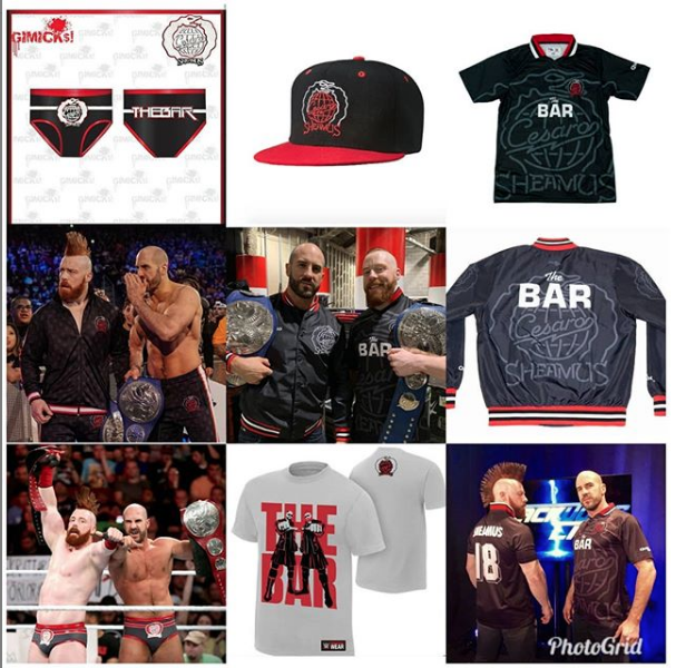 For 2017 I had the privileged of designing tag team gear for  @wwesheamus  and  @wwecesaro  in designing their gear I had to figure out how to put elements of their individual logos together to create a new cohesive one. I thought I did a pretty cool job. But it really didn't hit me how cool until 2 weeks ago. That combo logo has been apart of some dope prototypes to merchandise sold on  @wweshop  and  @chalklineofficial Let's do more dope ish like this in 2019. 🔥🔥🔥