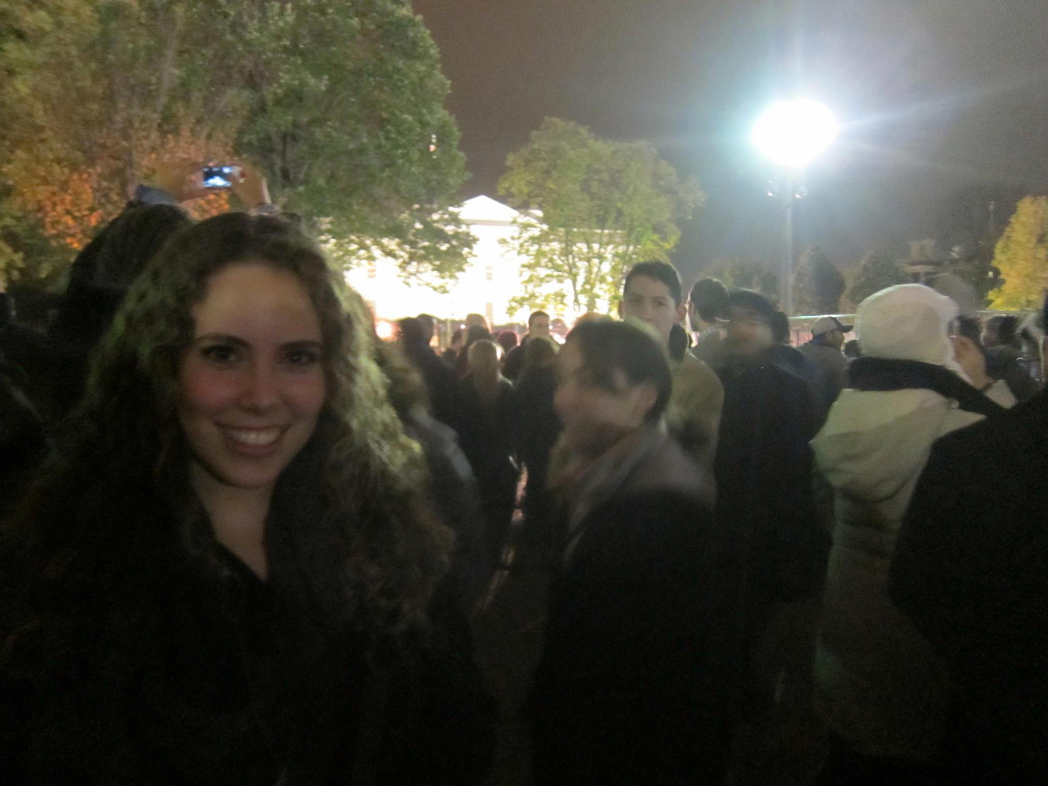 IN FRONT OF THE WHITE HOUSE THE NIGHT OBAMA WAS ELECTED FOR A SECOND TERM!