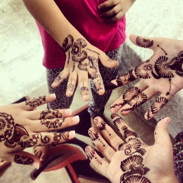 Eid Preparation with Henna