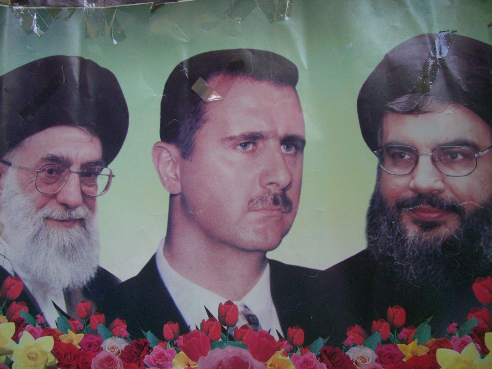 Left to Right: Iran's Ayatollah Khamenei, Syria's President Bashar al Assad, and Hezbollah's Hassan Nasrallah  (Photo: Christopher Wilken |  Flickr )