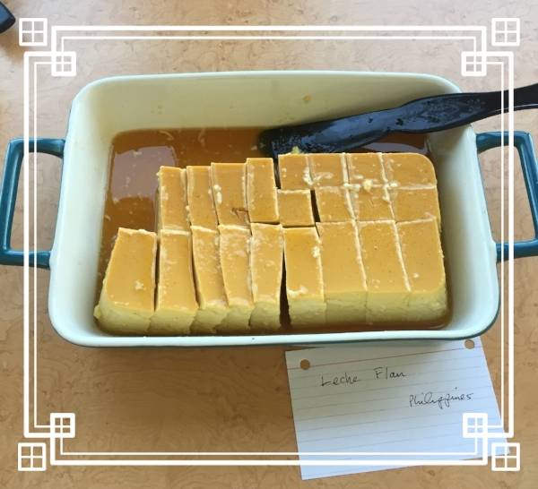 And don't forget about dessert! Barbara's sweet Leche Flan was the perfect way to end this feast.