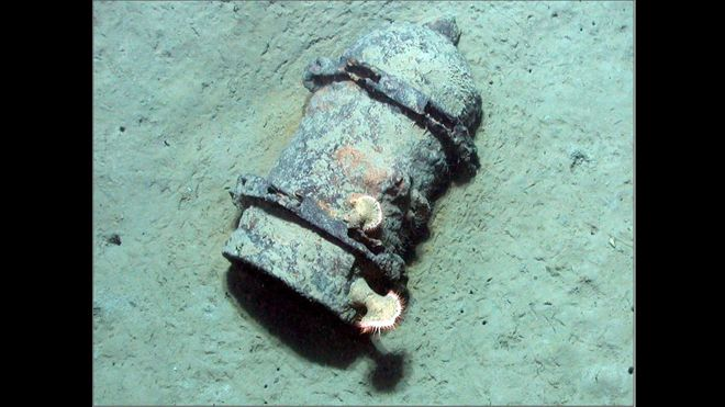 Bomb found in Gulf of Mexico.