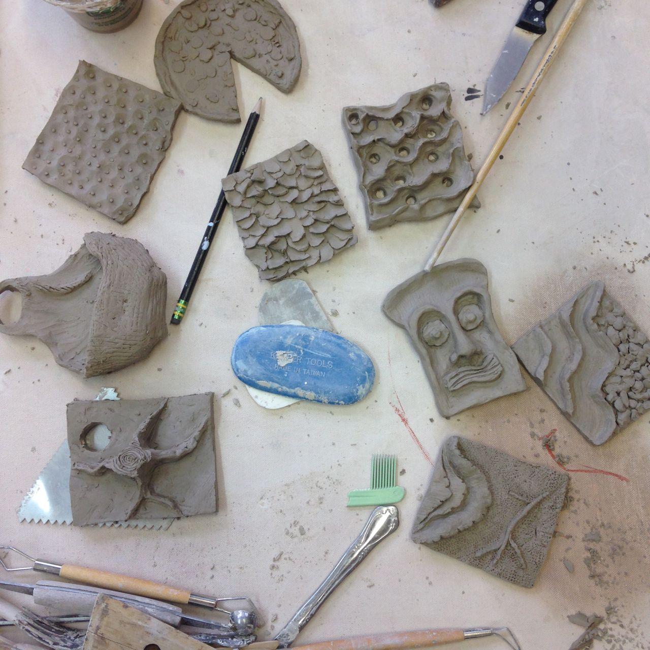 Tile Mark Making project