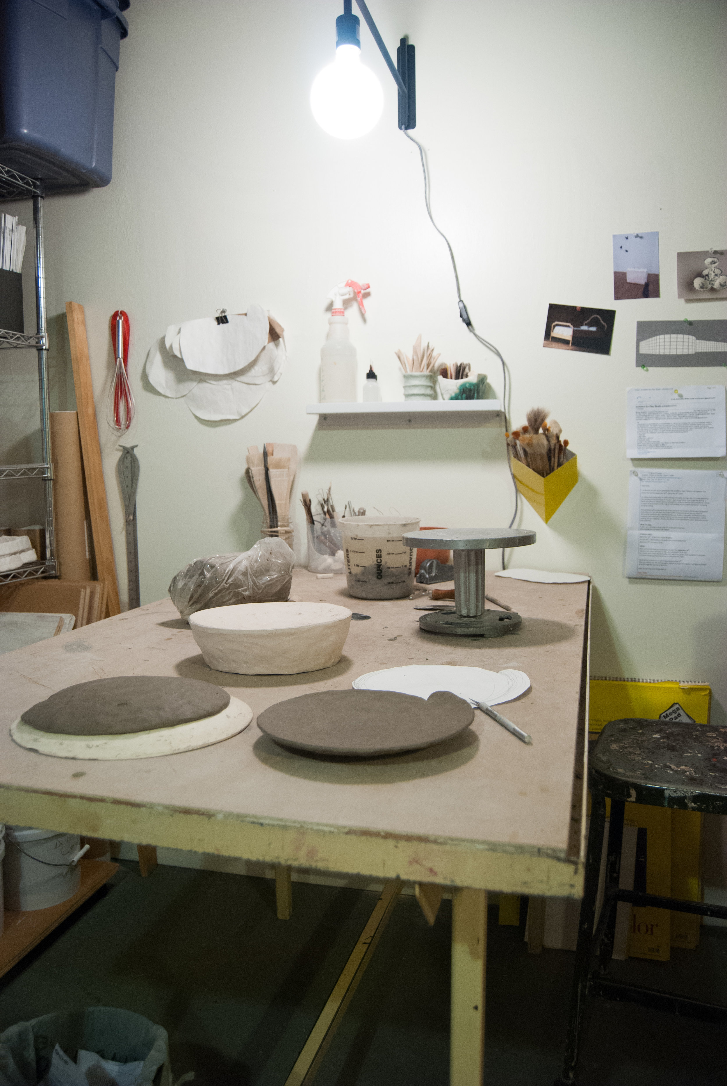 A view into my studio