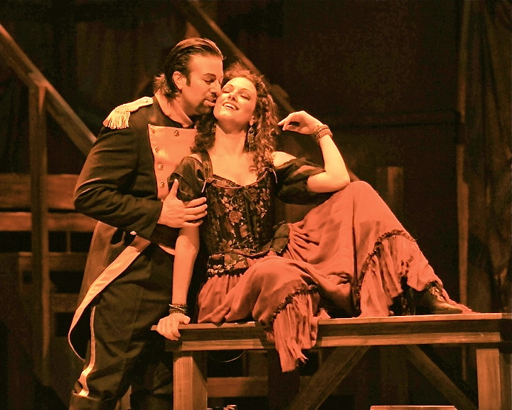 As Don José with Sandra Piques-Eddy