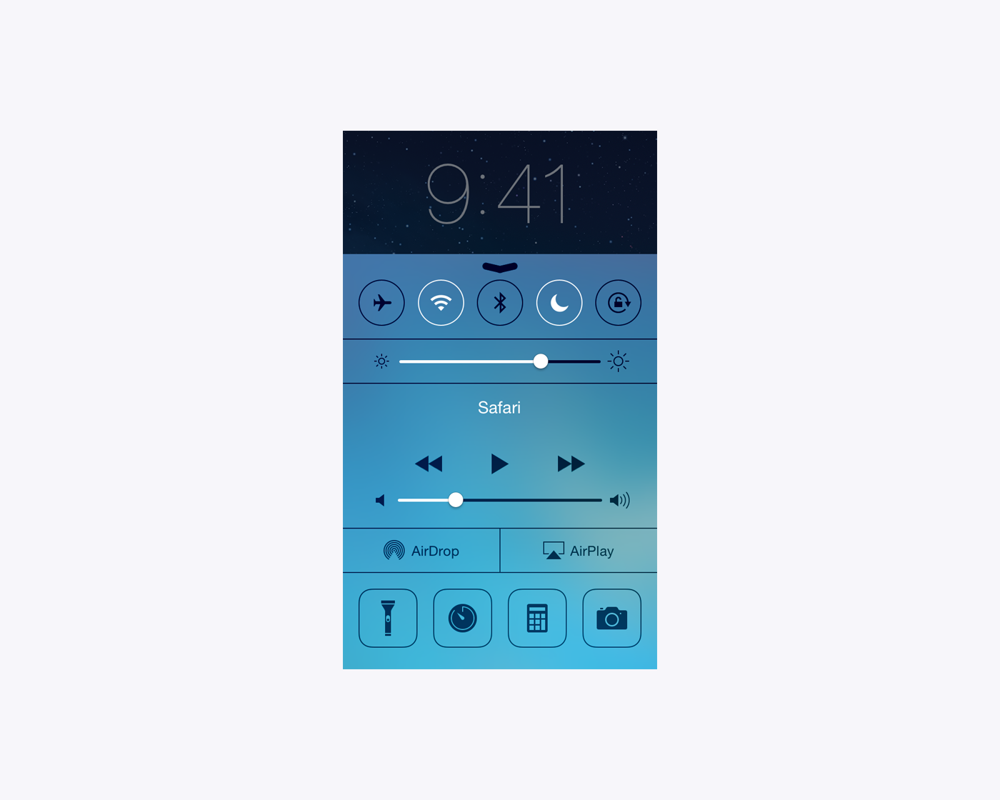 From Control Center you can turn on Do Not Disturb by tapping the moon icon.