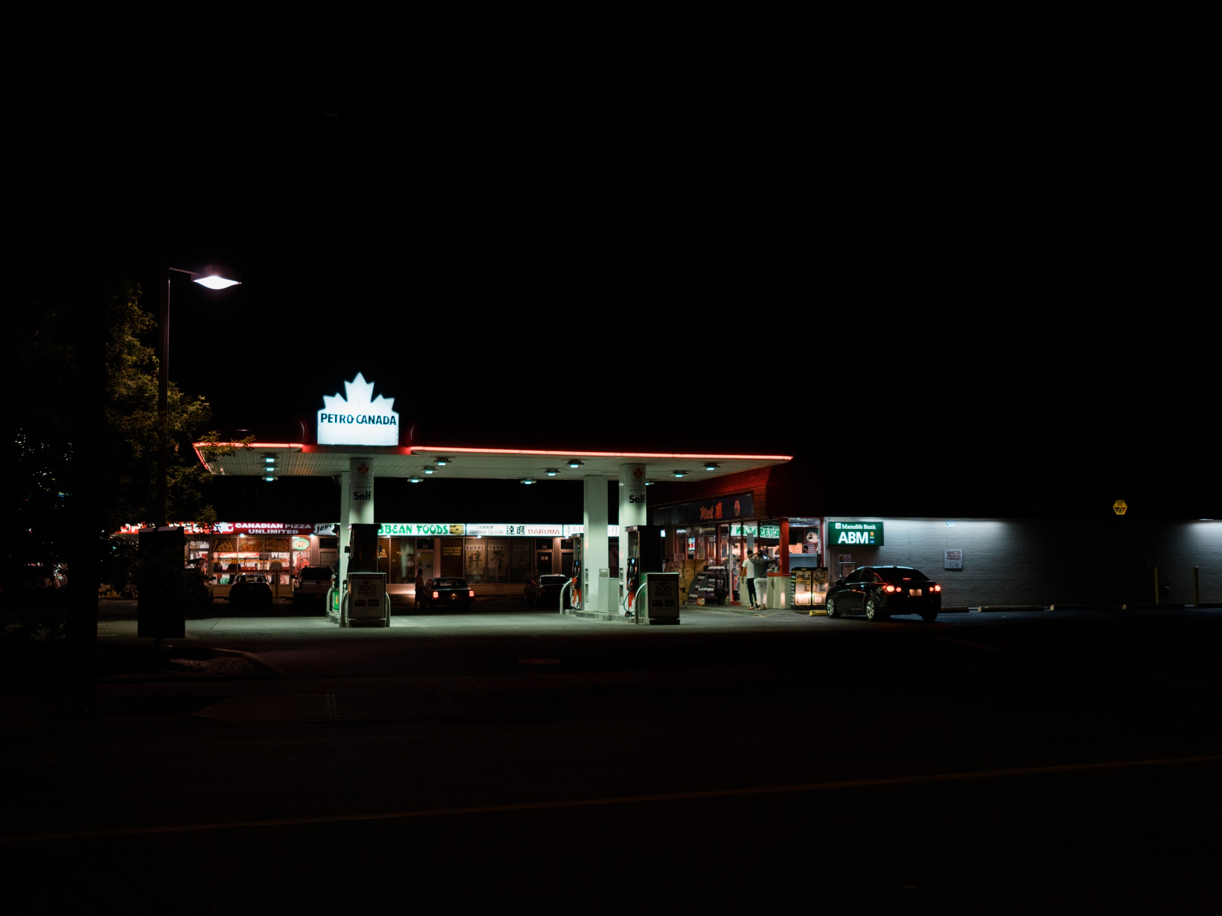 There are two gas stations along my typical photo walk route so it's easy to see what's up at both.