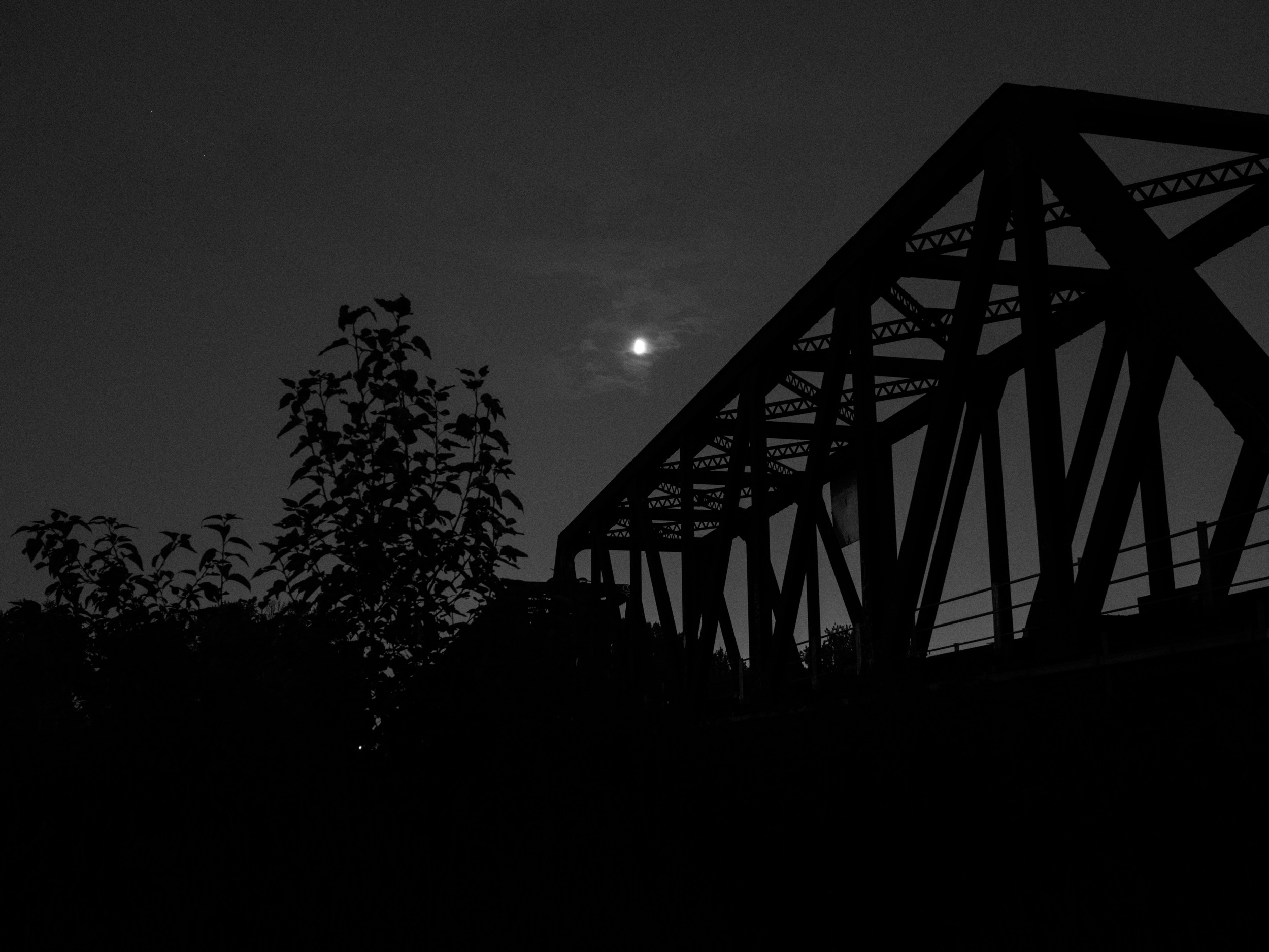 Bridge silhouette. Also using a tripod at night.