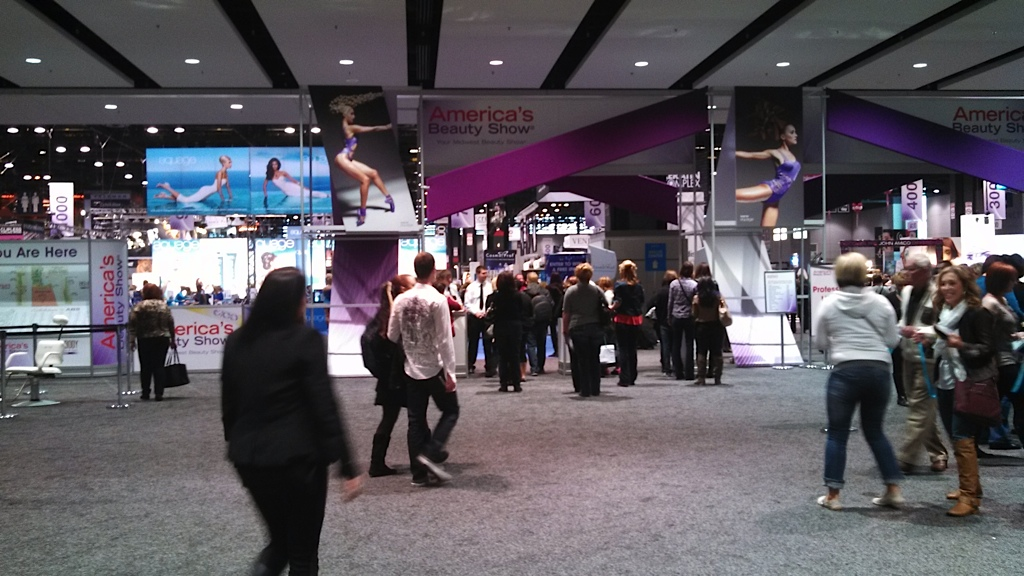 The entrance to America's Beauty Show