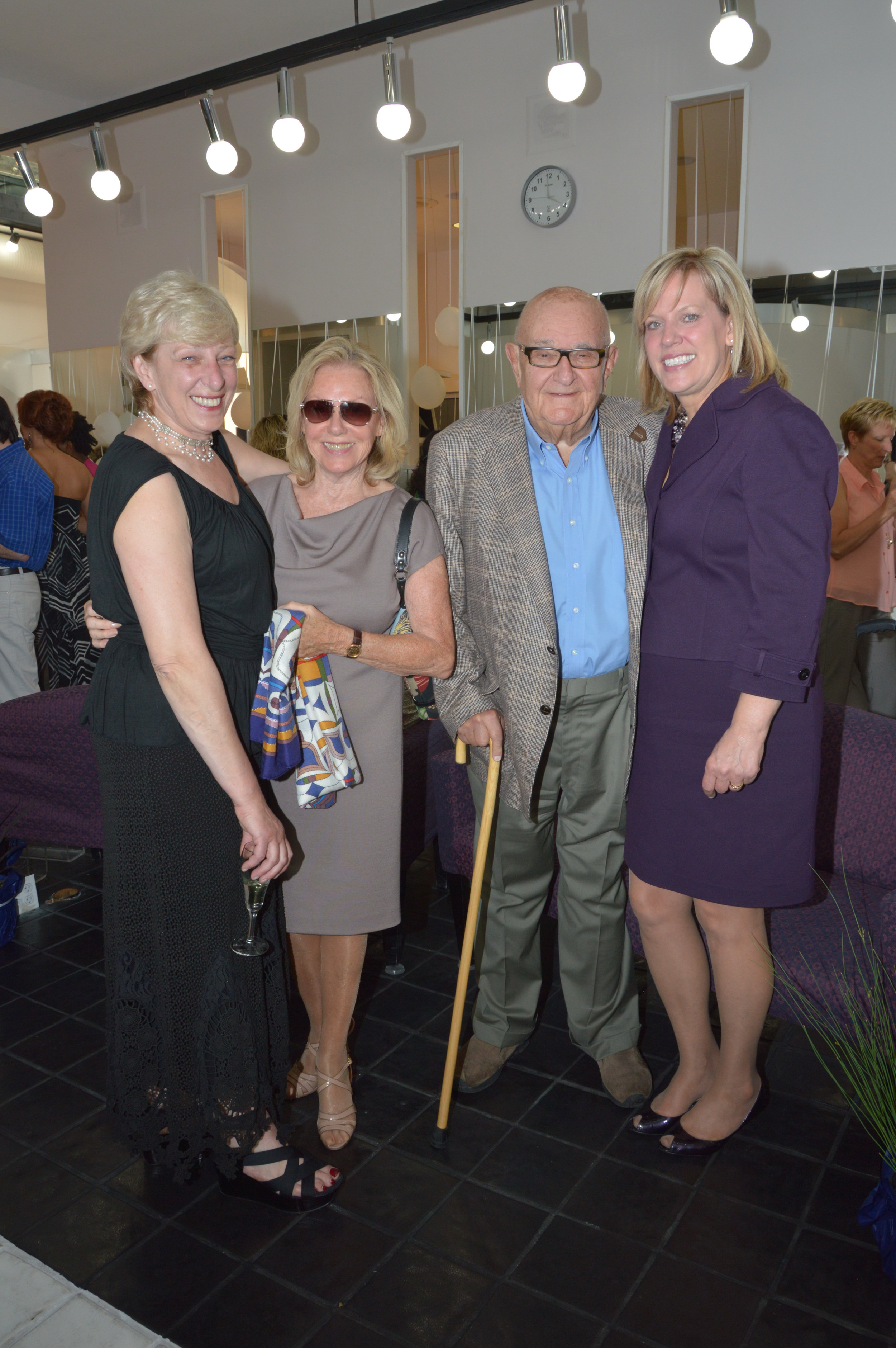 Tomorrows founder Anci Brennan with Pat and Louis Fodor from Lakewood and Rocky River Mayor Pam Bobst