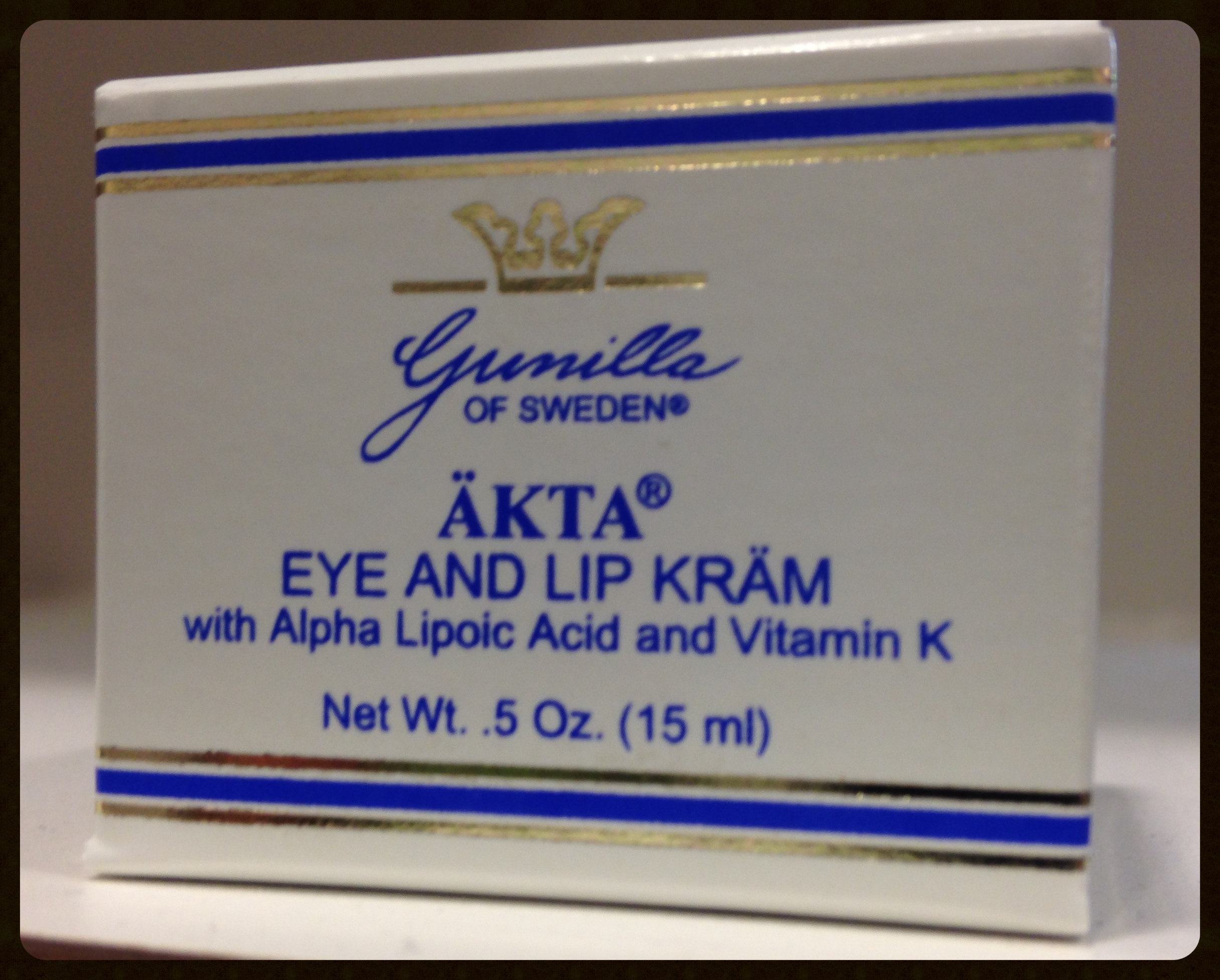 Try our eye and lip creamfrom AKTA featuring alpha lipoic acid and Vitamin K.