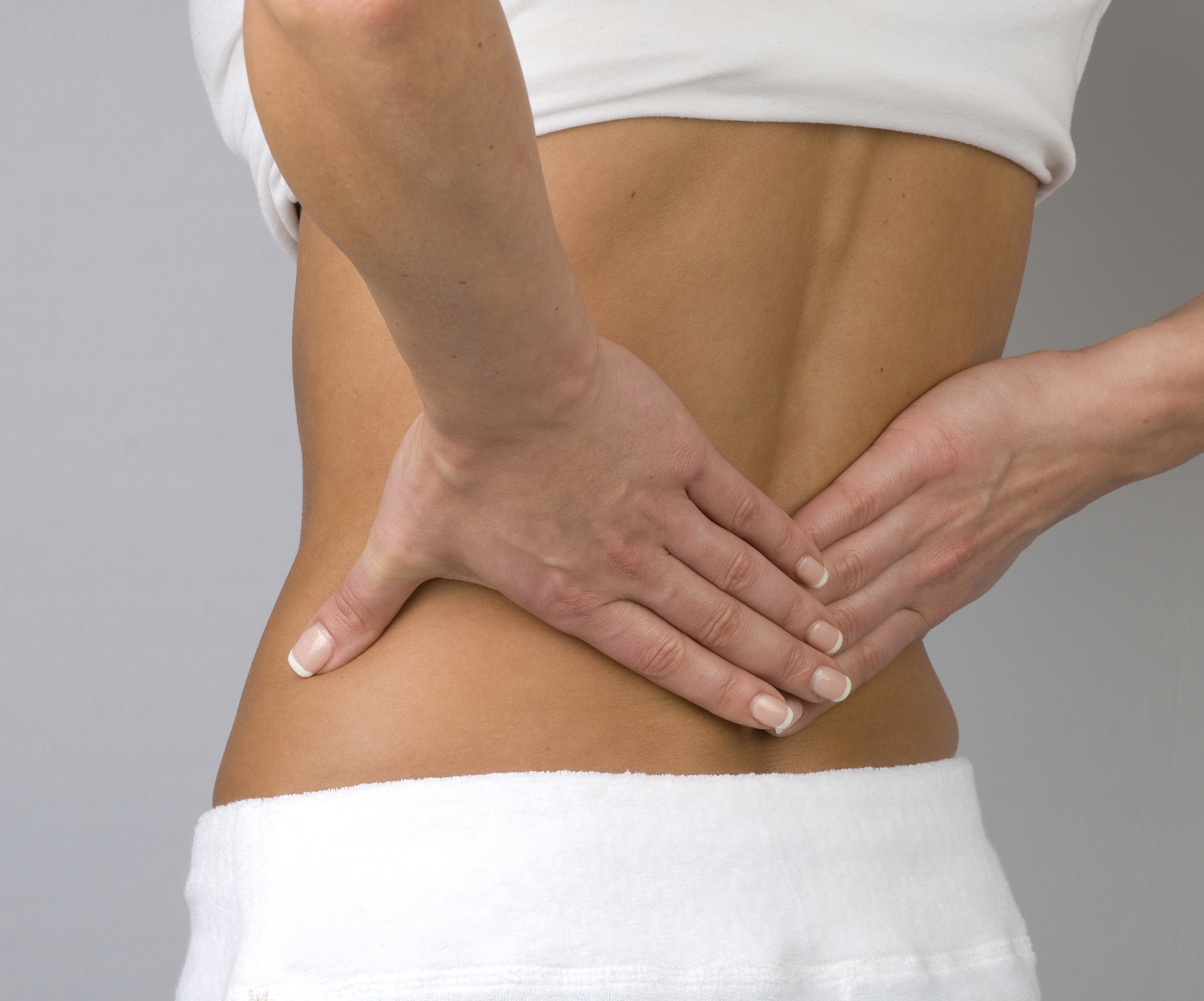 A sore back can be soothed with massage