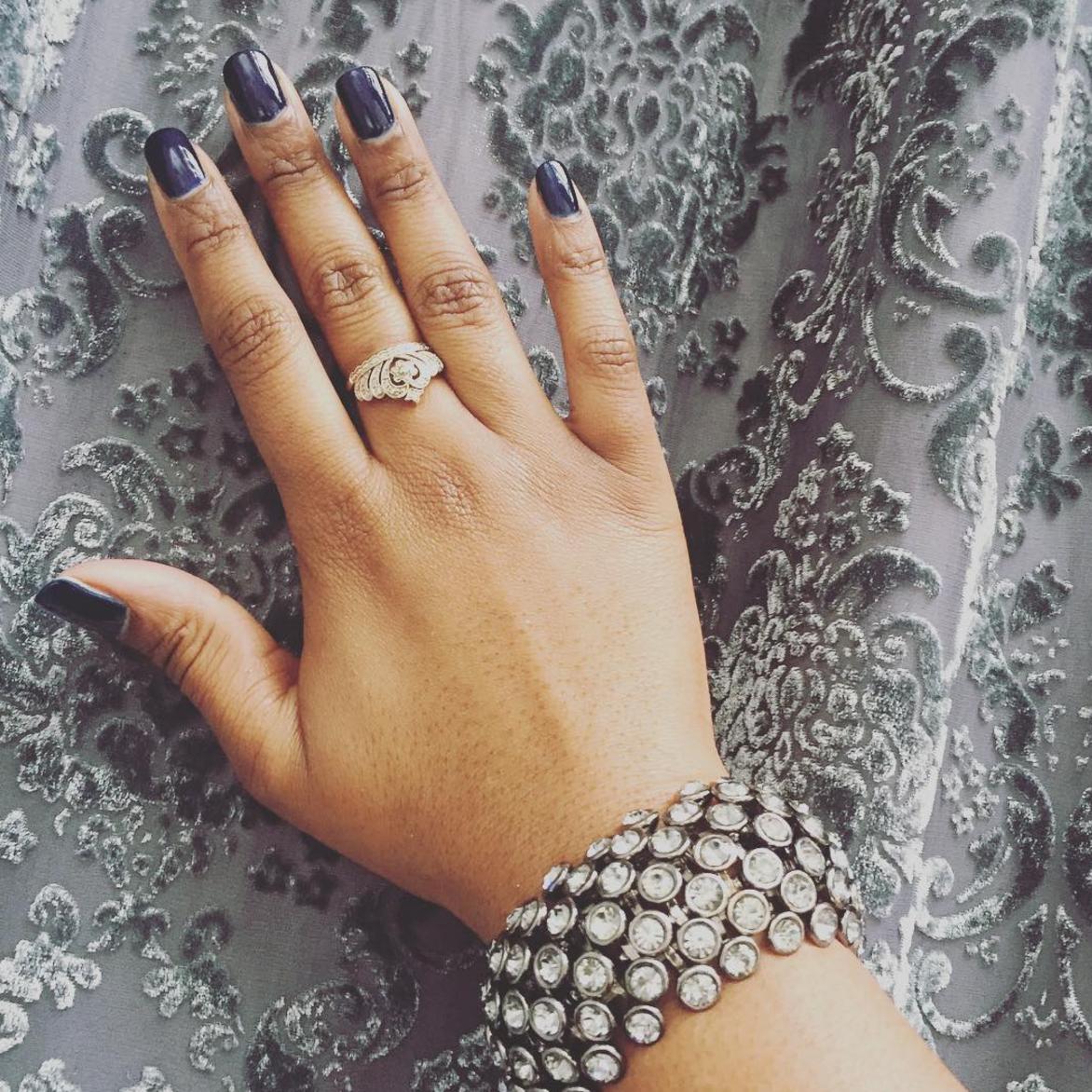 Russian Blue shellac manicure