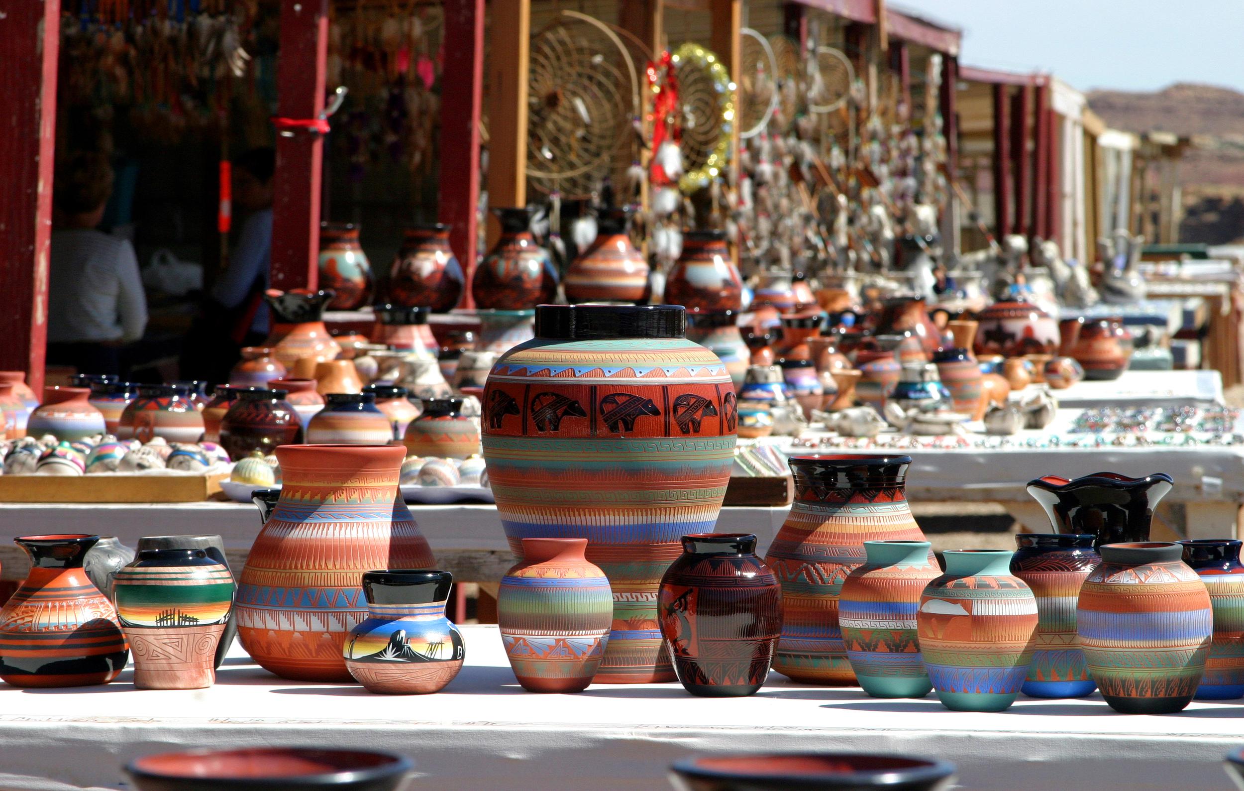 A Navajo market, Arizona