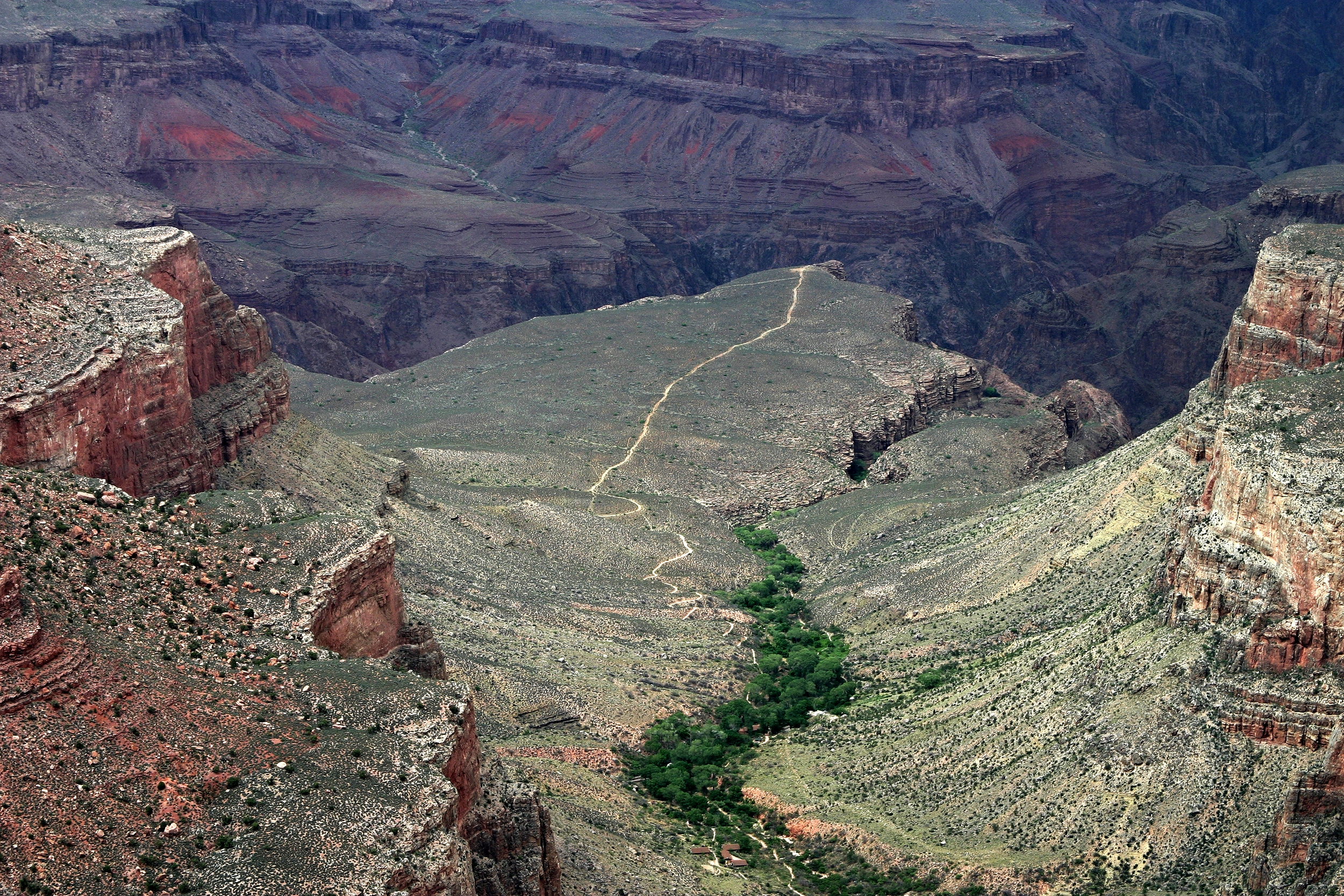 Indian Garden and Plateau Point, Grand Canyon