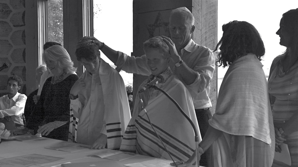 """Somehow through the ritual of the Bar Mitzvah, which you both so beautifully prepared us for and led us through, some ancient tie, once severed had been made whole again. As the hours passed, it has become more and more clear that the thread that links me to my Jewish heritage, my ancestors to my sons, is now somehow subtly connected in ways it has not been. I can't quite convey the full meaning and significance of what the ceremony has done. But I am very aware that something is different""   - Rod Strykker"