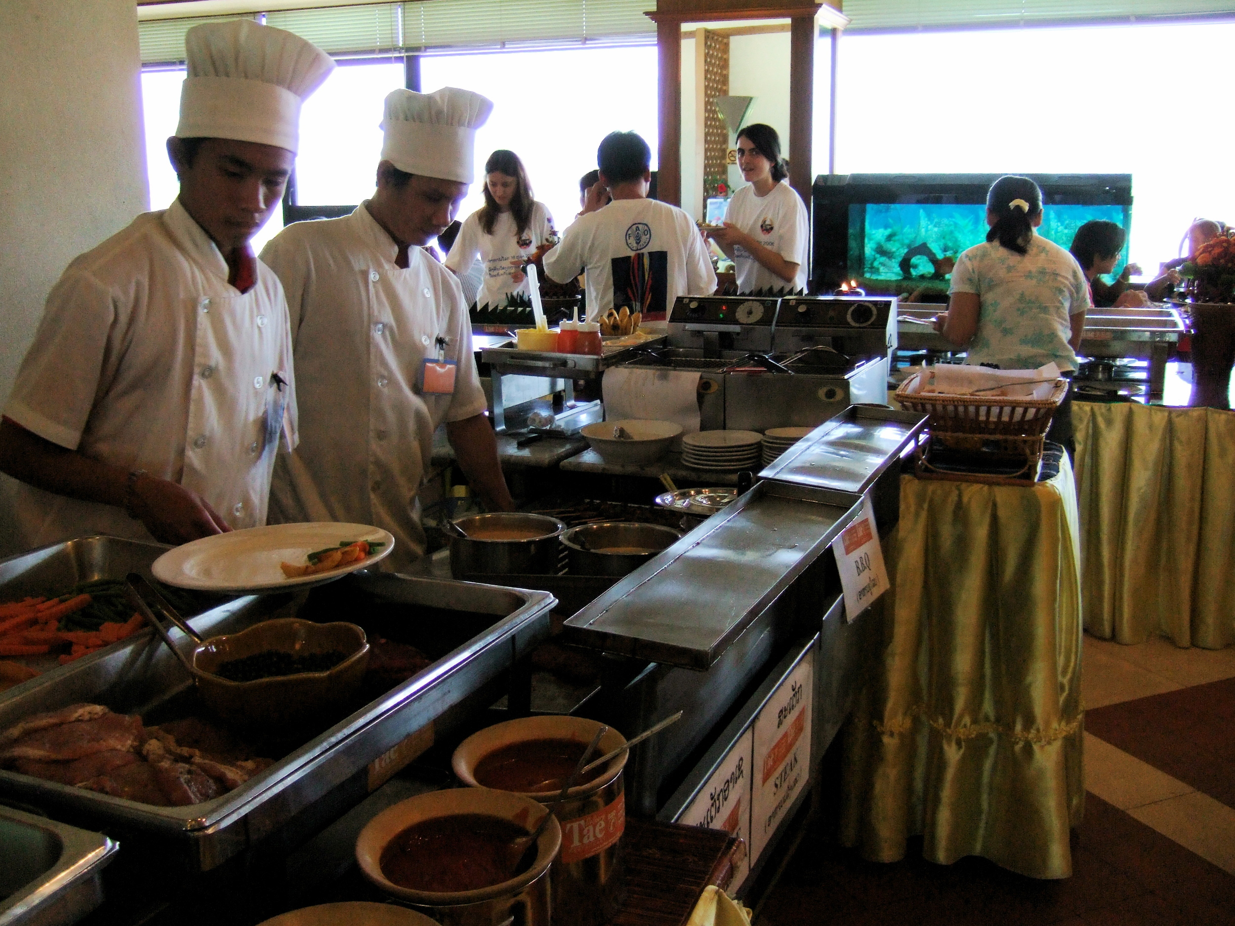 Buffet at Wattay Airport.JPG