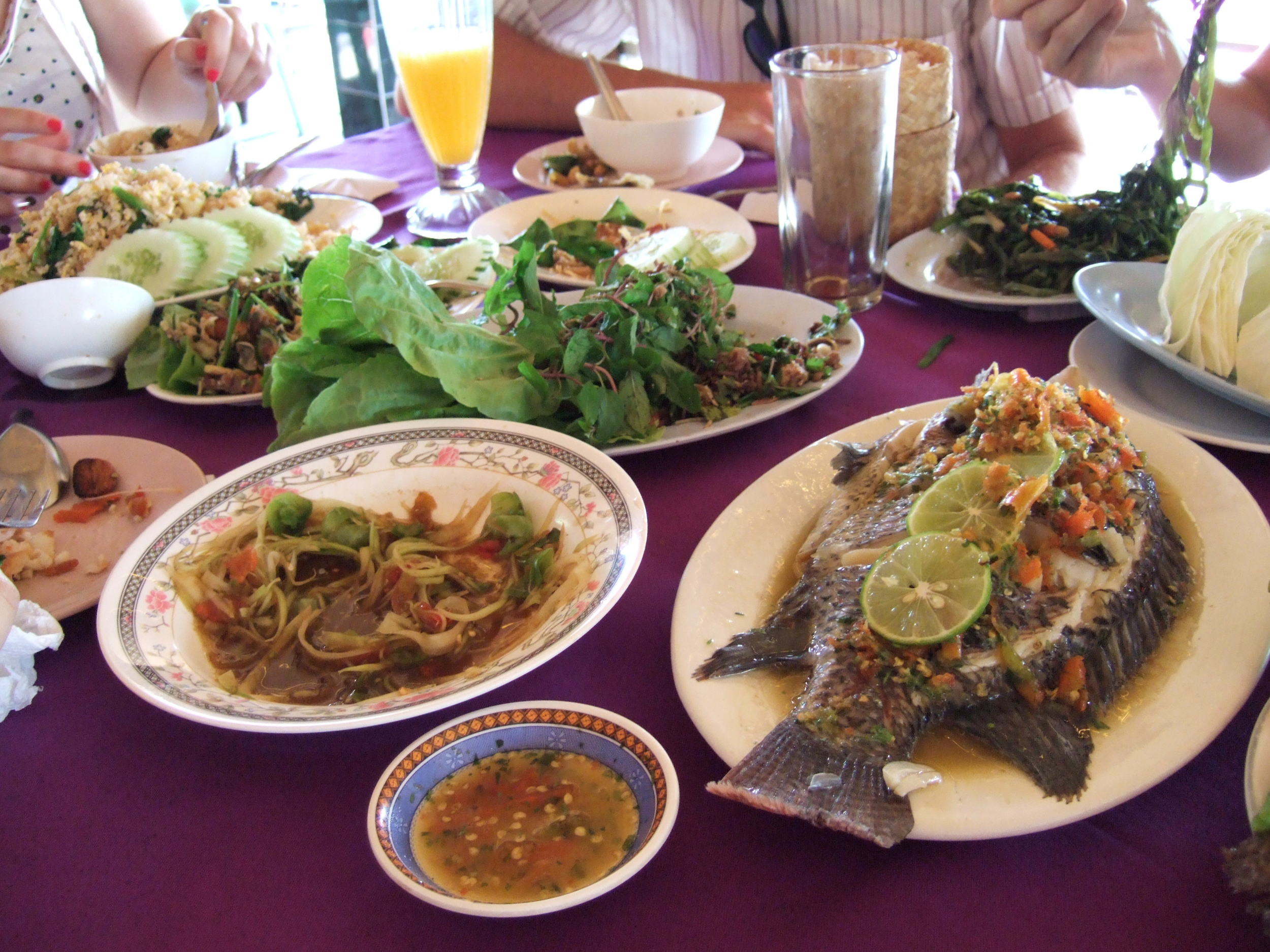 Traditional lao food
