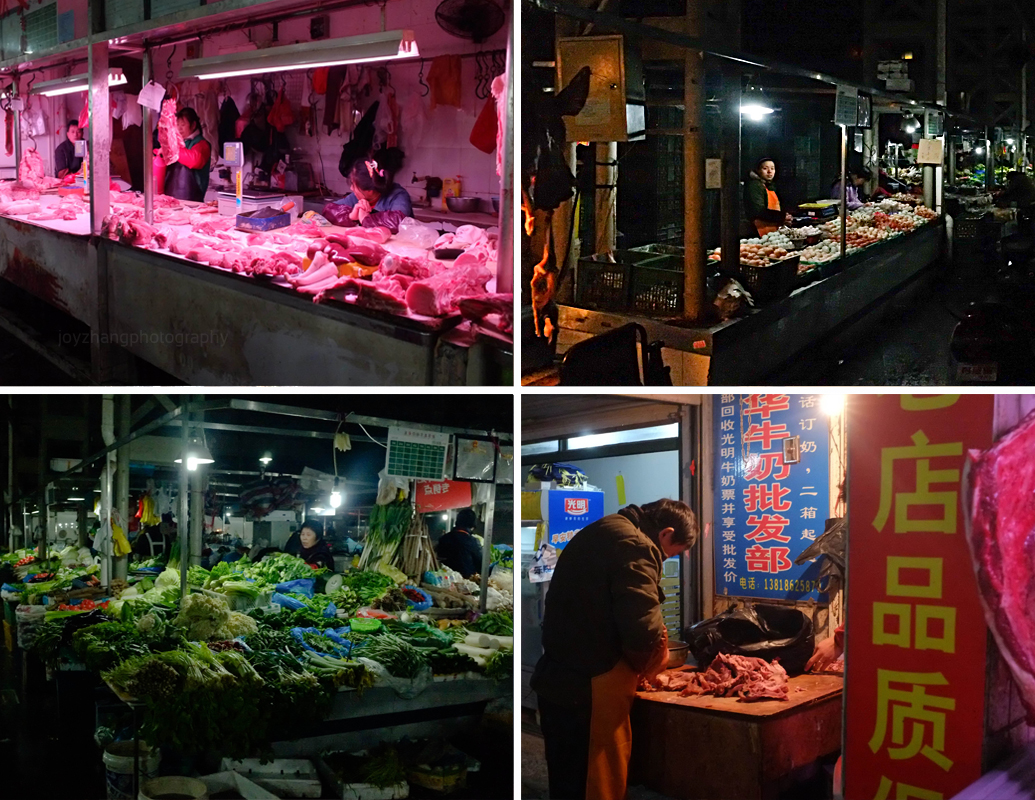 These open markets are tucked away everywhere in Shanghai. Just one small turn down a small street opens up to a World of edible possibilities.