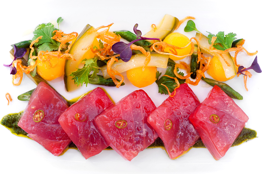 Yellowfin Tuna with Chayote Squash and Long Beans