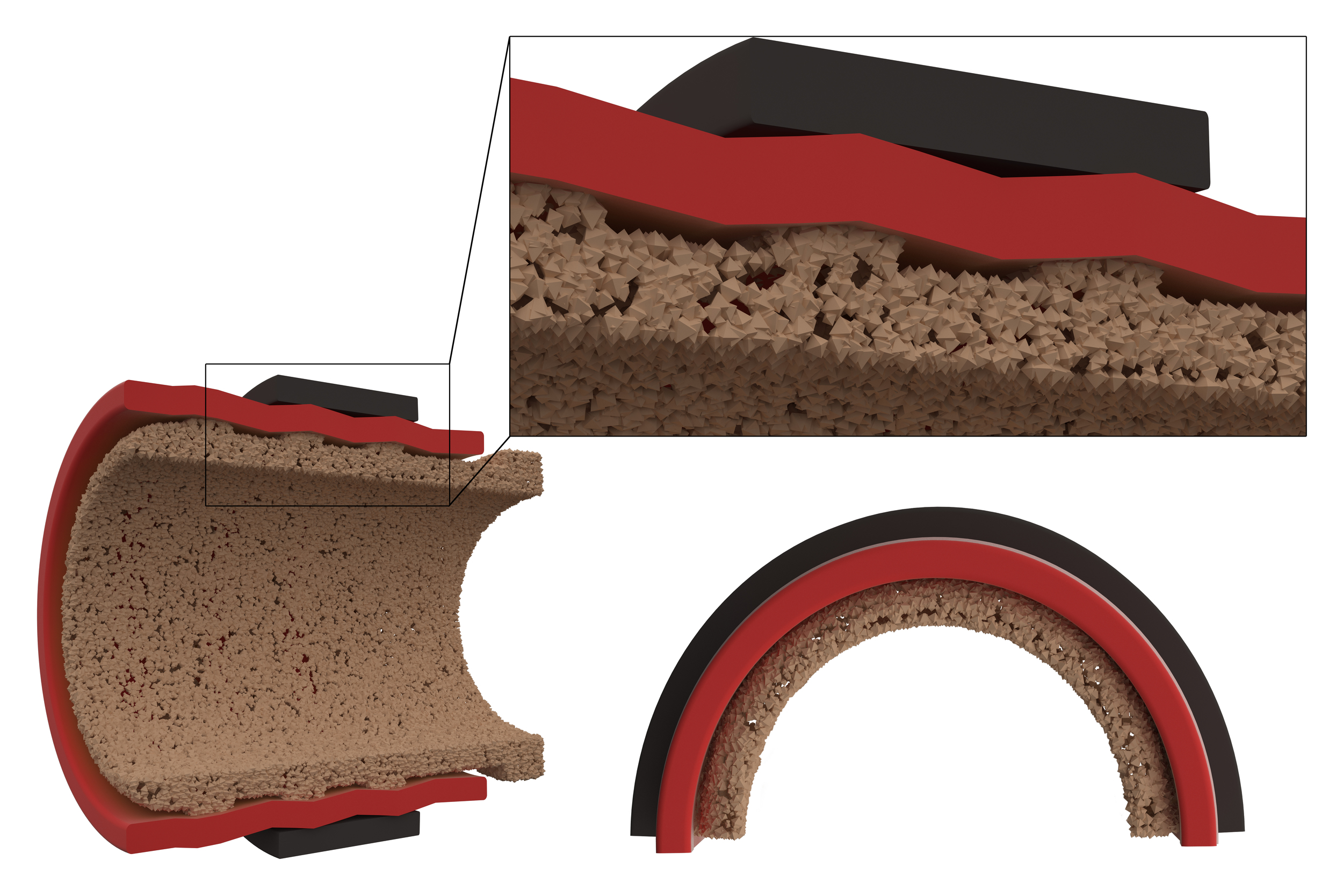 Trial graphic created to articulate pipe erosion due to chemical abrasion.