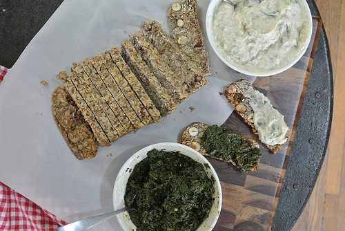 psyllium loaf with herb jam and butter bean-dijon hummus spread.jpg