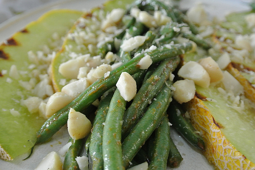seared melon with miso-glazed hericots verts detail.jpg
