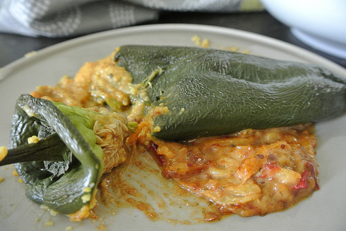 polenta chiles rellenos with pineapple-chipotle-pepita salsa messy detail.jpg