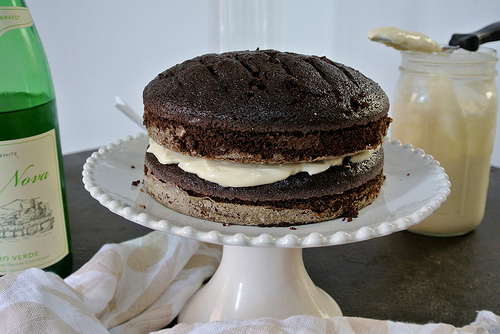 chocolate layer cake with mimosa creamsicle frosting unfrosted layers.jpg