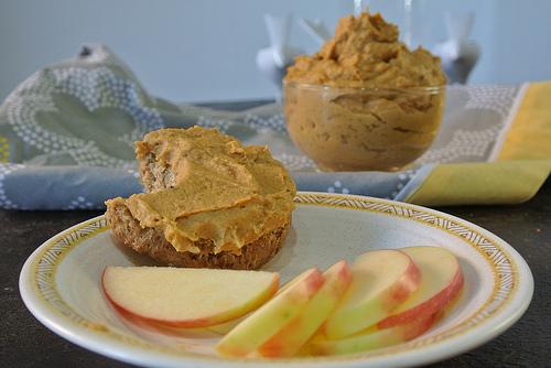 chai sweet potato peanut butter spread apple table.jpg