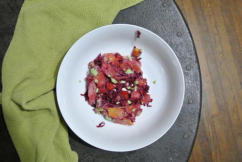 acorn squash-orange-beet salad with zesty parsley dressing table.jpg