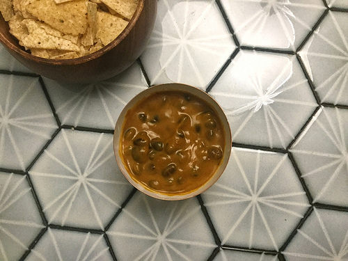 dead simple black bean nachos with chipotle pumpkin sauce bowl.jpg