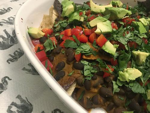 dead simple black bean nachos with chipotle pumpkin sauce detail.jpg