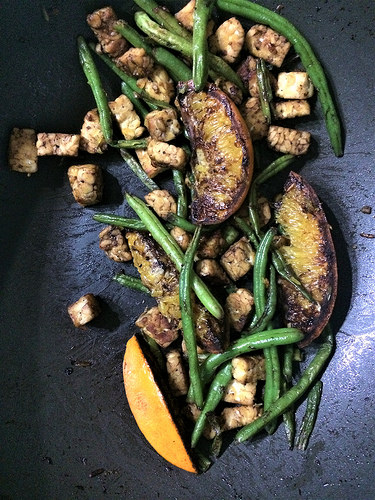 balsamic tempeh oranges and haricots verts skillet.jpg