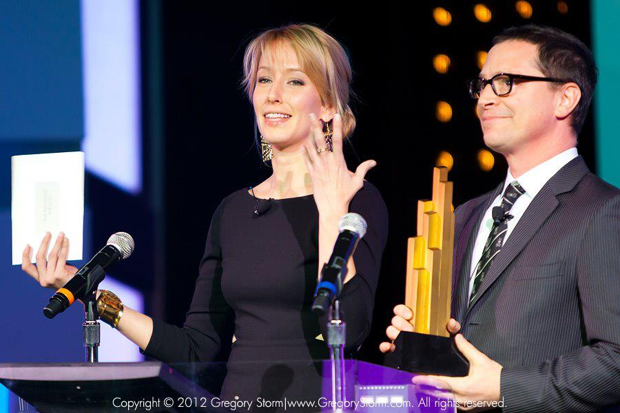 Leap Year's Alexis Boozer and Josh Malina presenting at last year's IAWTV Awards in Las Vegas.