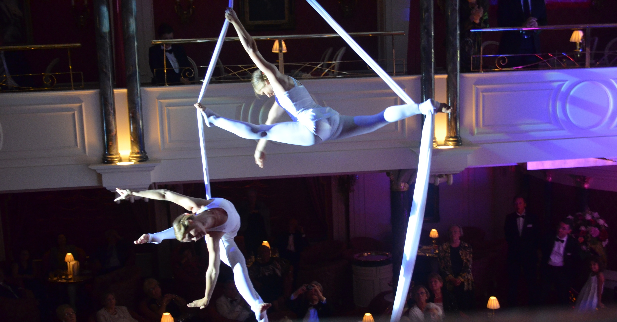 Aerial silks performance