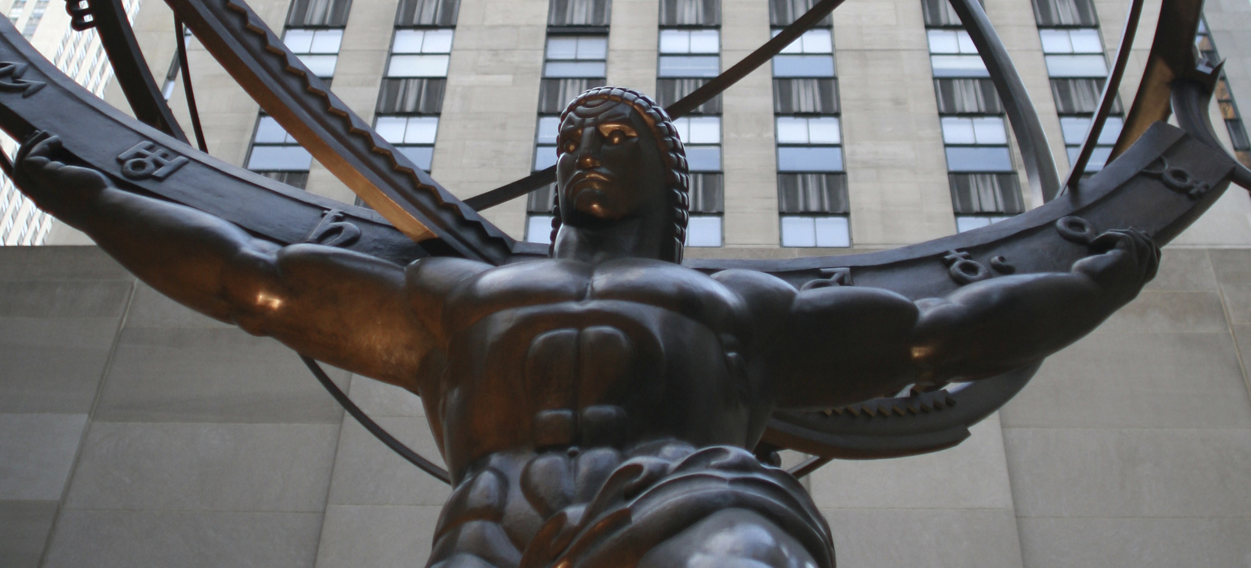 Statue of Atlas outside The Rockefeller Center in New York