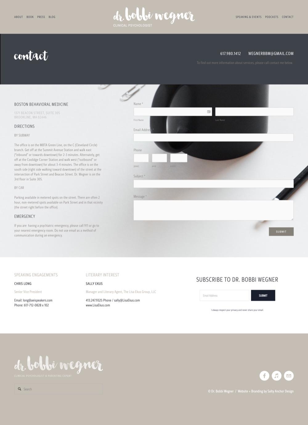 Squarespace Website Custom Design Custom Form Contact Page