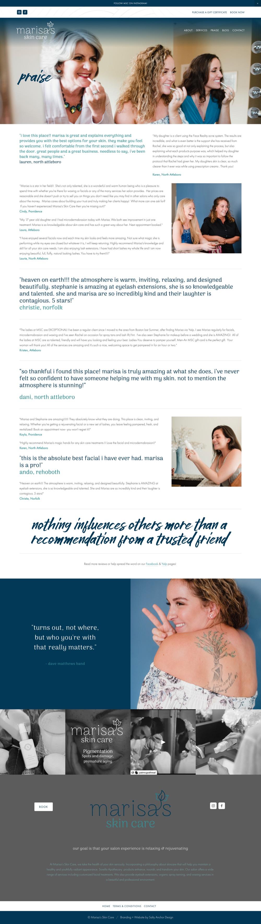 Squarespace Website Custom Design Testimonials