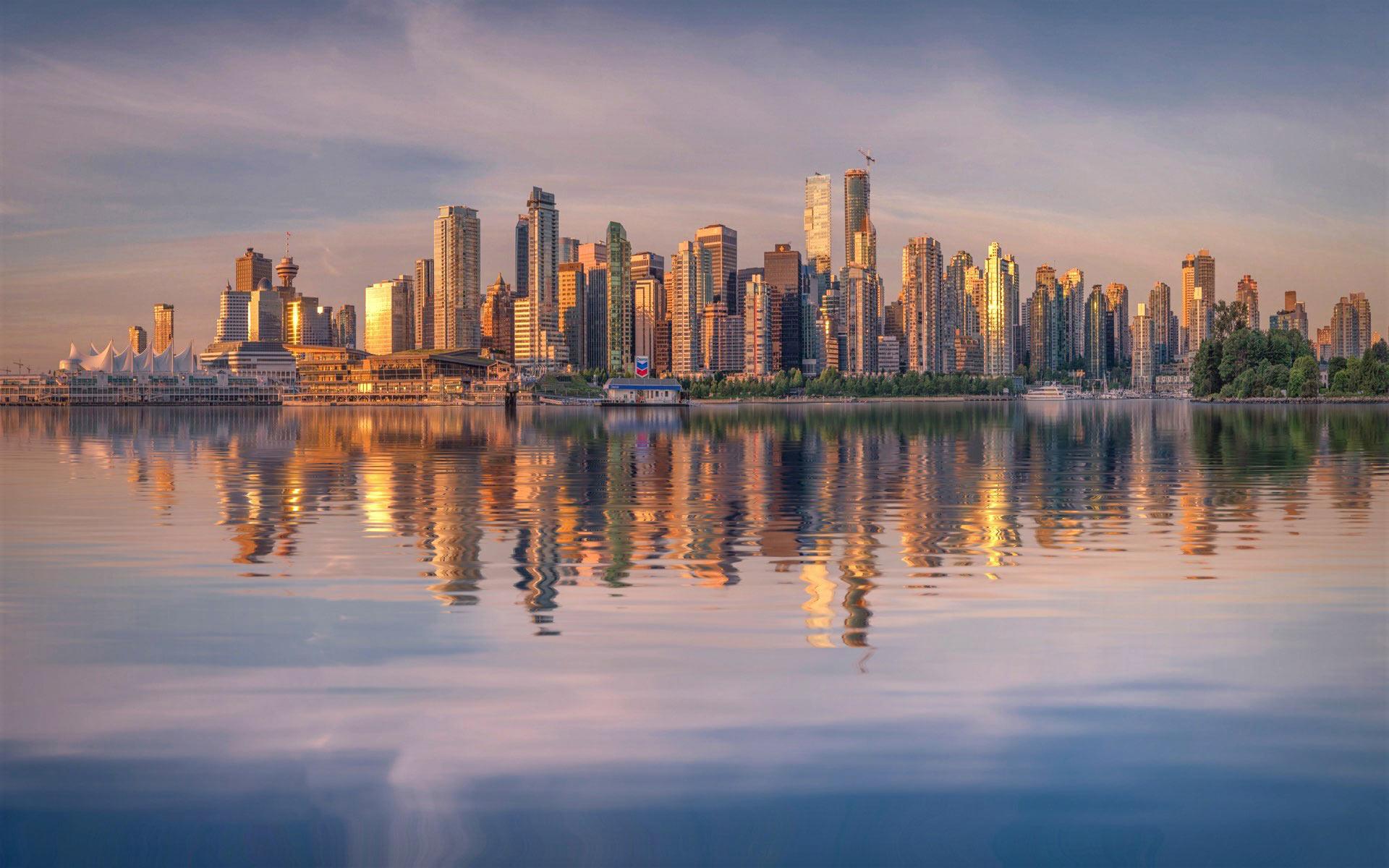 Vancouver Skyline Coal Harbour Photo