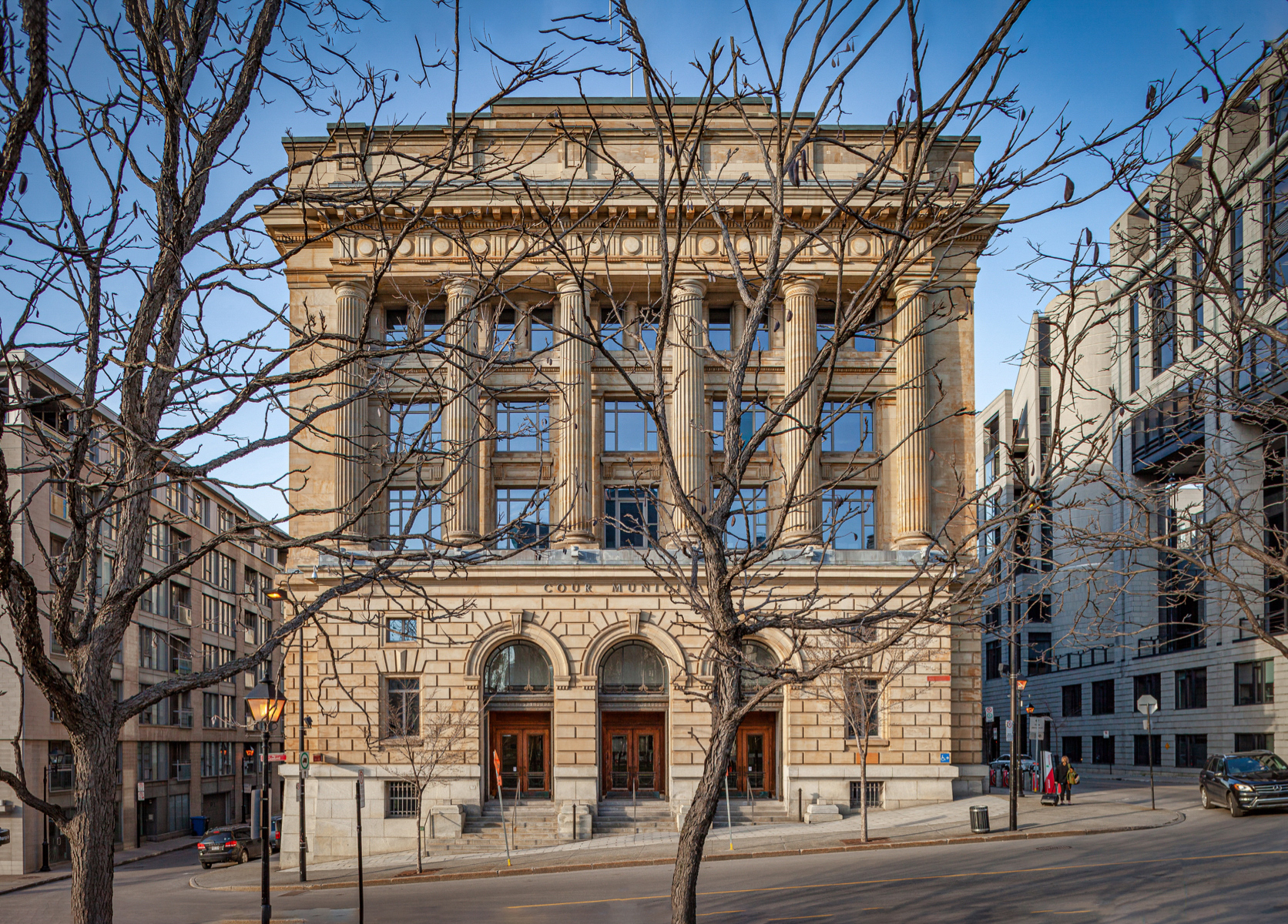 Cour Municipale (1914)  Marchand and Haskell, Architects  It continues to be used as a municipal court building    (photo by Timothy Olcott)