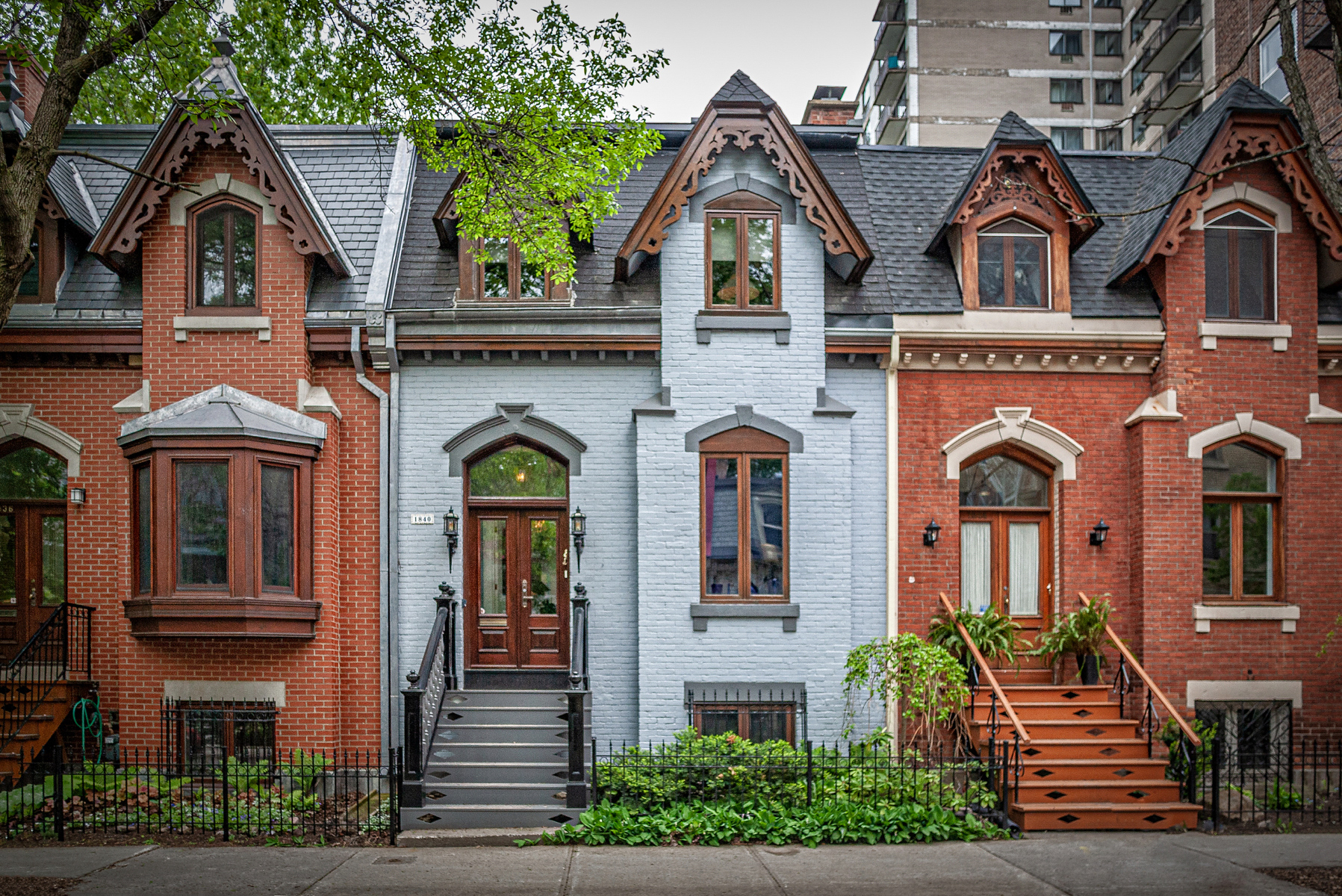 Rue Tupper row houses     The Streetscapes in Old Montreal offer an endless array of photo opportunities. The oldest Row Homes date from the 17th Century.    (photo by Timothy Olcott)