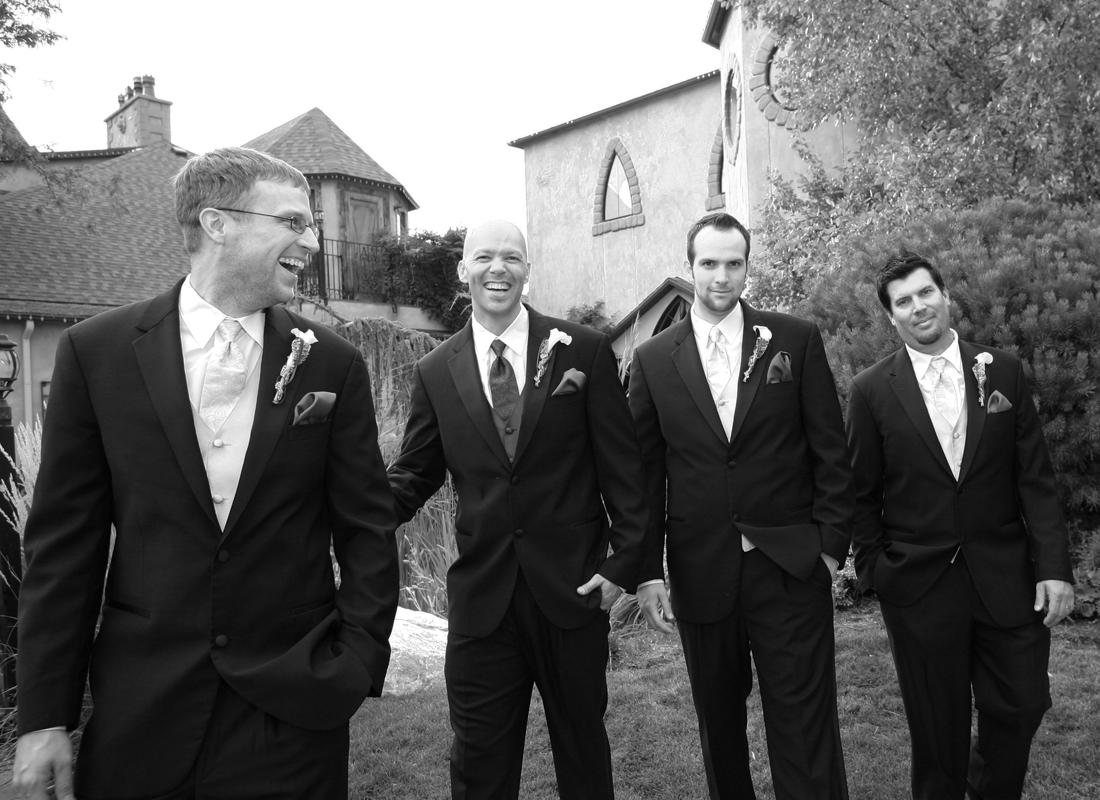 ogden wedding photography groomsmen