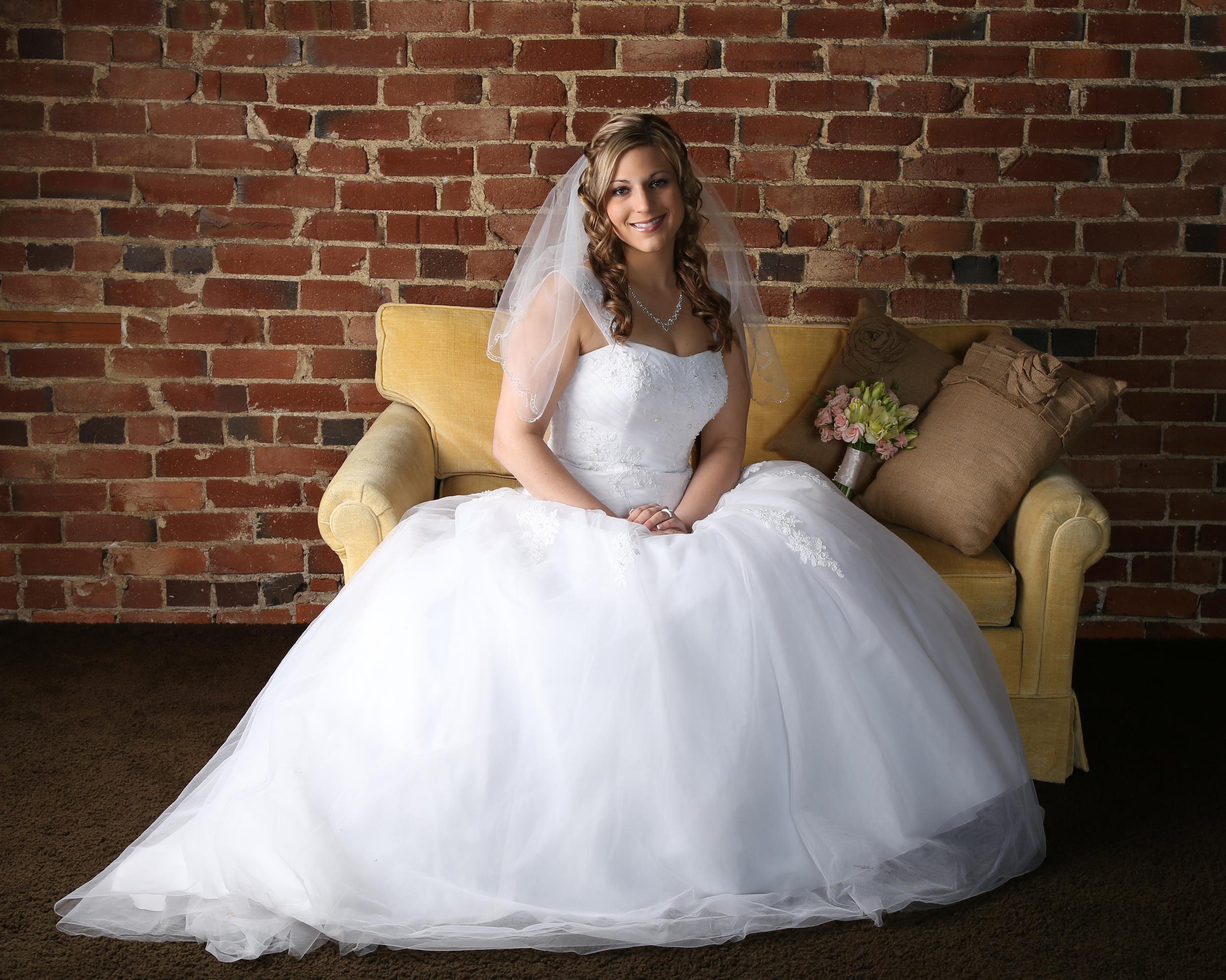 Bountiful wedding Bridal in studio