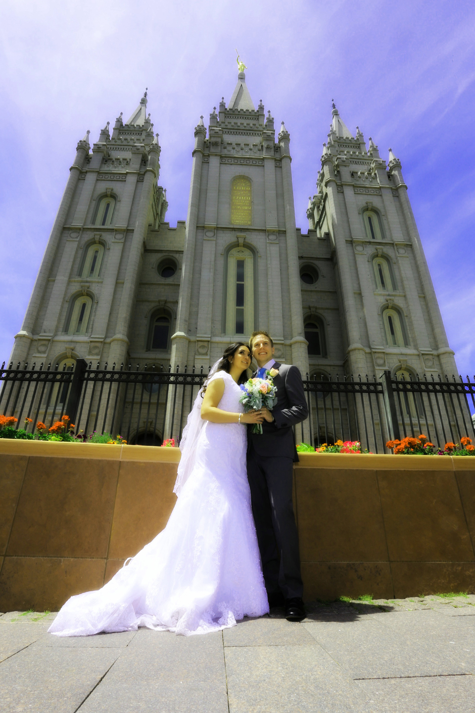 Salt Lake LDS Temple Wedding photography, Located in Davis County