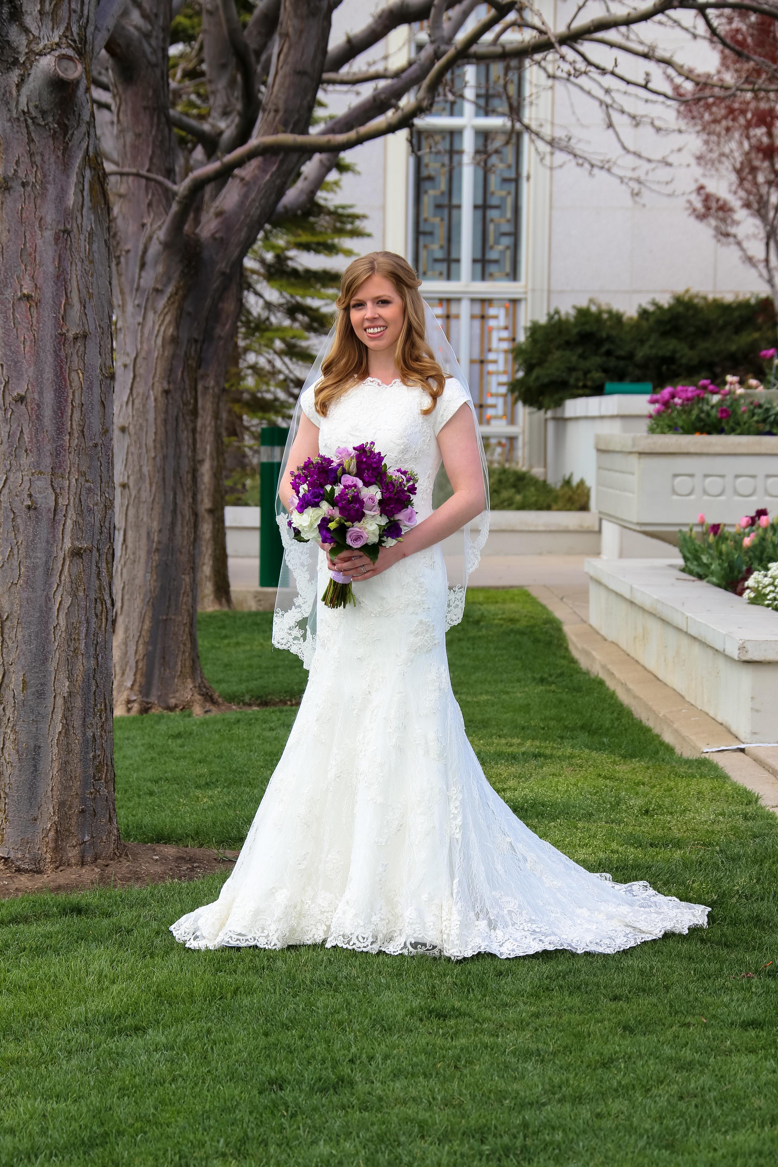 Bountiful Temple Wedding Bride