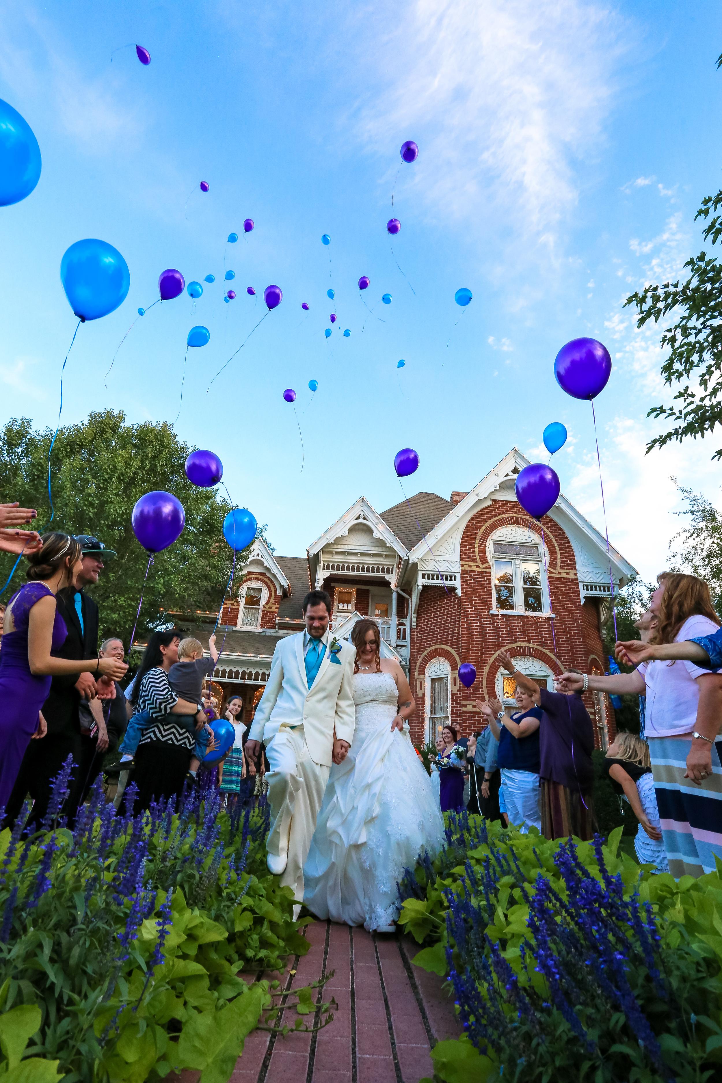 Bountiful wedding photography send off