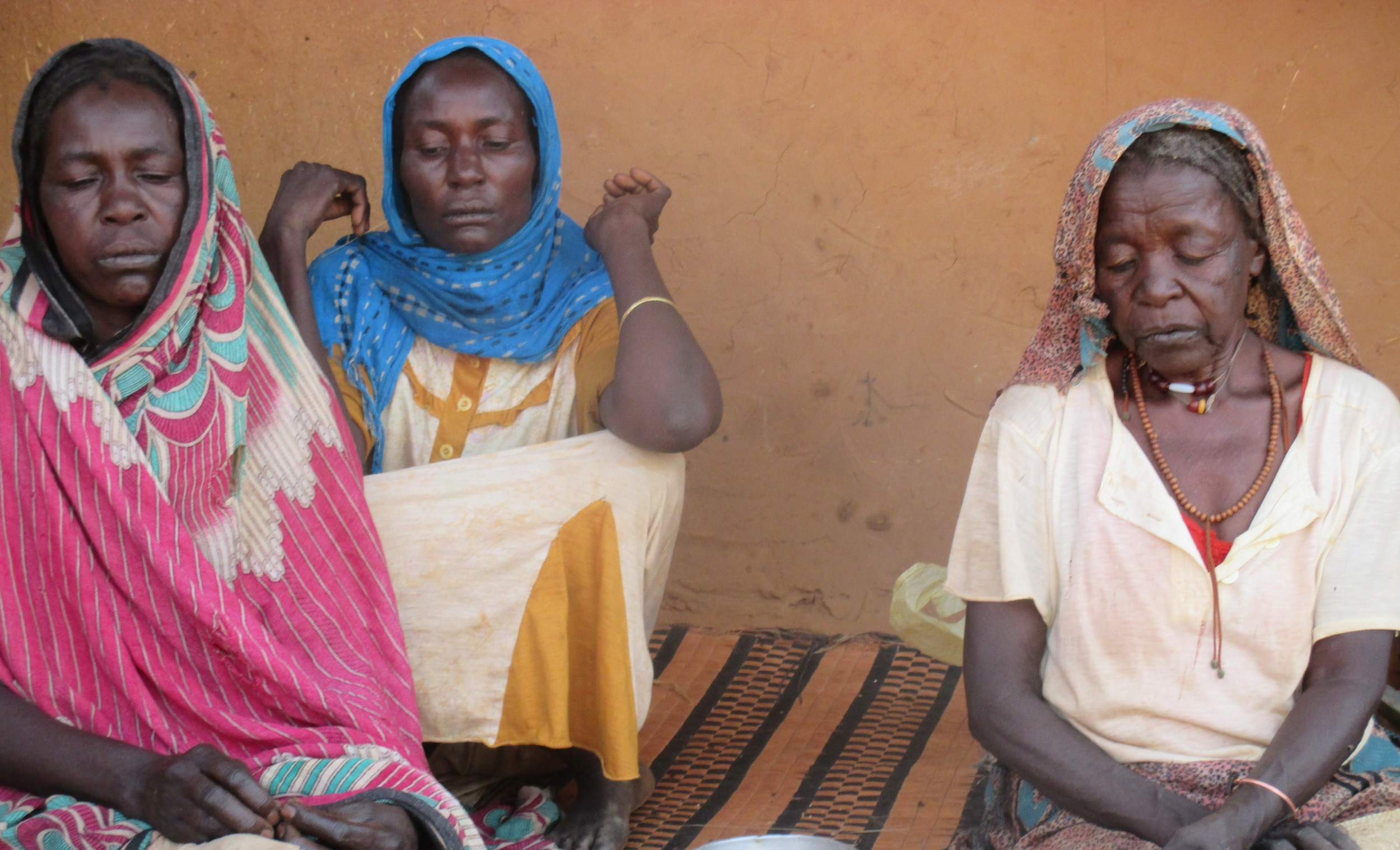 Sudanese refugee women at a camp in Eastern Chad.