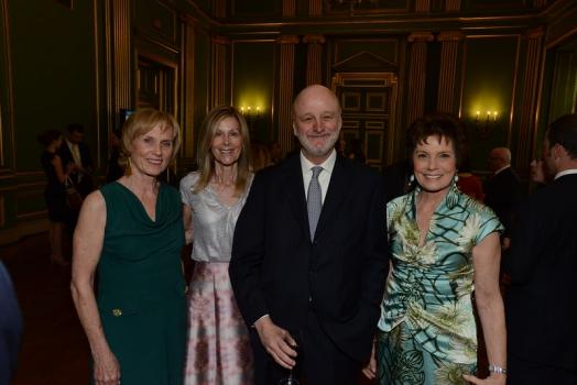 Dane Nichols, RI Board Chair Eileen Shields-West, Honorary Chair Ambassador Ramon Gil-Casares, and McCall-Pierpaoli Honoree Maureen Orth