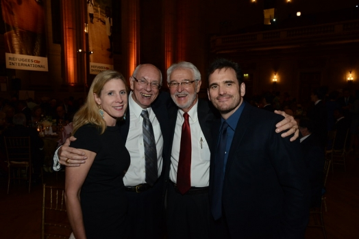 Johanna Nesseth Tuttle of Chevron, Ambassador William Garvelink, Tom Getman and Matt Dillon